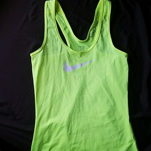 Nike brand work out tank top dri fit